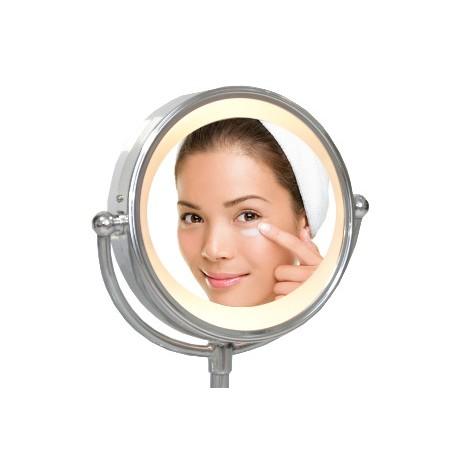 Miroir lumineux sur pied